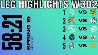 LEC Highlights ALL GAMES Week 3 Day 2 Spring 2019 League of Legends European Championship