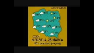 Progoza pogody na dzisiaj/jutro - na 25 marca