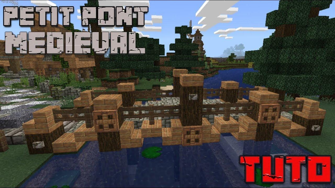 Comment Fabriquer Un Petit Pont En Bois tuto minecraft #5 - petit pont médiéval simple et réaliste