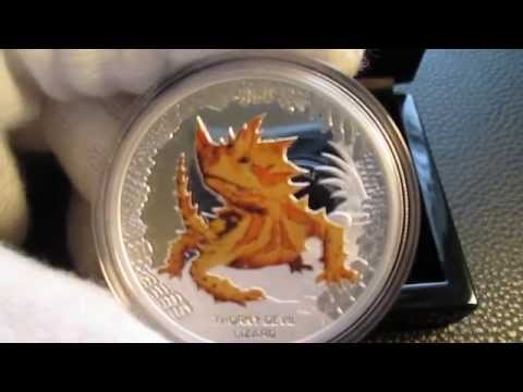 AUSTRALIA'S REMARKABLE REPTILES -- THORNY DEVIL LIZARD SILVER PROOF COIN