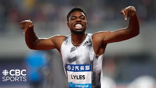 Noah Lyles beats Christian Coleman in Men's 100m in Shanghai | IAAF Diamond League 2019 | CBC Sports
