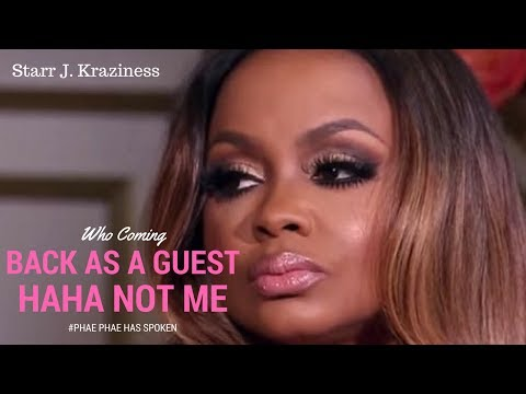 Phaedra Parks Will Return To RHOA As A Guest!  WELL DAM PHAE PHAE 😕