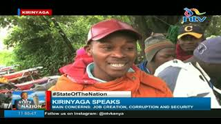 Kirinyaga residents want president Kenyatta to address cost of living