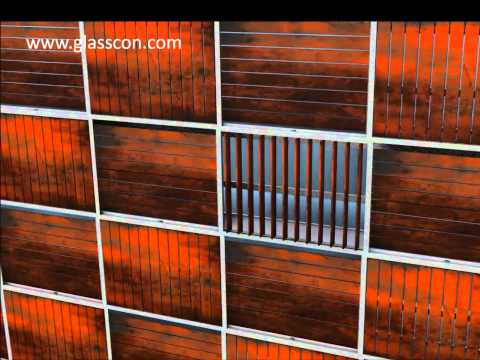 GLASSCON GmbH - HONEYCOMB CORTEN STEEL LOUVRES