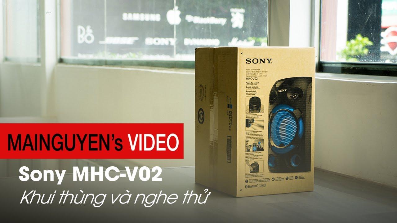 [Khui thùng] Sony MHC-V02 - Hệ thống chơi nhạc đa phương tiện giá tốt nhất của Sony