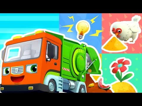 magical-garbage-truck-|-fire-truck,-crane,-police-car,-ambulance-|-kids-songs-|kids-cartoon-|babybus