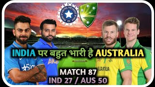 INDIA VS AUSTRALIA ODI SERIES || ROHIT SHARMA VS DAVID WARNER || STATS OF THE TEAMS ||