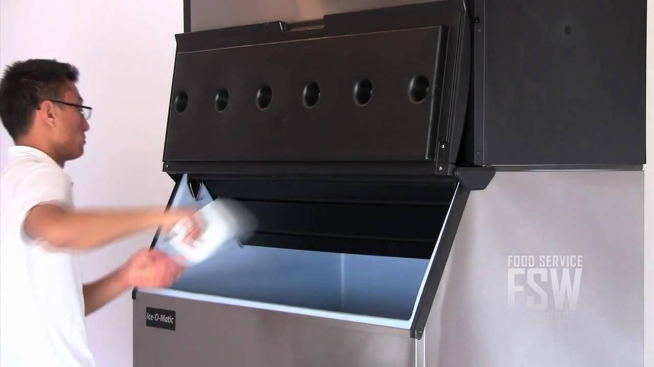 ice o matic ice2106fw_b100ps 1856 lb full size cube ice machine with storage bin youtube - Ice O Matic Ice Machine