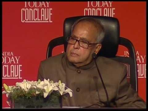 India Today Conclave: Q&A With Pranab Mukherjee