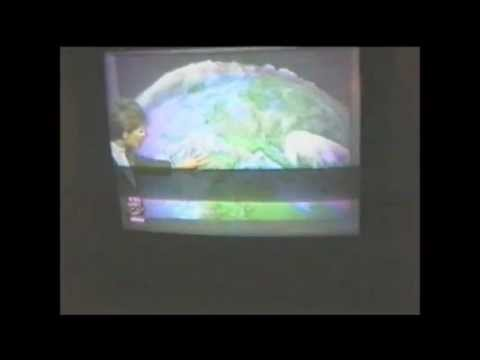 London, UK, tv weather (1996)