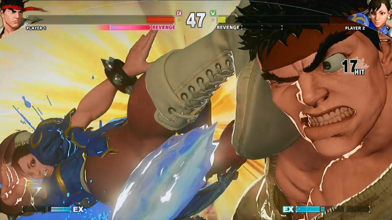 Street Fighter 5 Gameplay Ryu Vs Chun Li Full Match 60 Fps Hd Street Fighter V Ps4 Gameplay