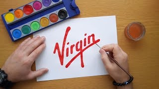 How to draw the Virgin logo