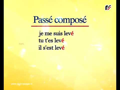 Conjugation Of Se Lever Passe Compose Enigerorcosva S Blog