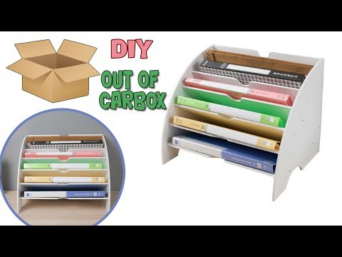 DIY FROM CARDBOARD BOX //  How to Organize Office Files