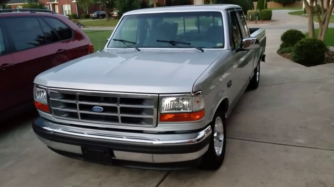 1993 ford f150 lowered silver black