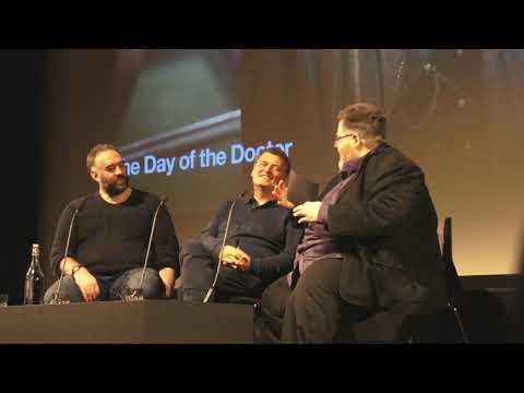 BFI DAY OF THE DOCTOR Q&A 280118 STEVEN MOFFAT & MARCUS WILSON