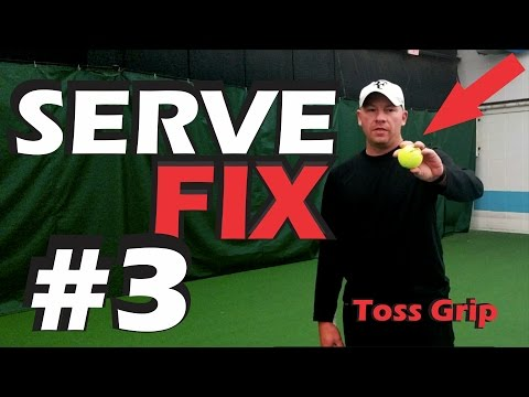 Thumbnail: How To Hold The Ball For A Consistent Toss | Serve Fix #3| Online Tennis Lesson