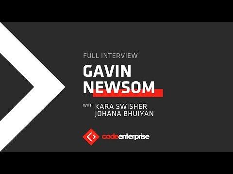 Live interview with Gavin Newsom, lieutenant governor of California   Code Enterprise  2016