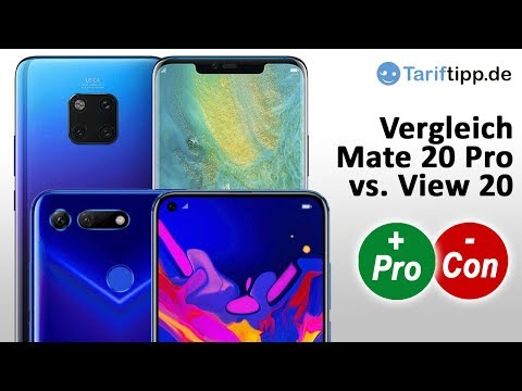 Vergleich Huawei Mate 20 Pro vs. Honor View 20