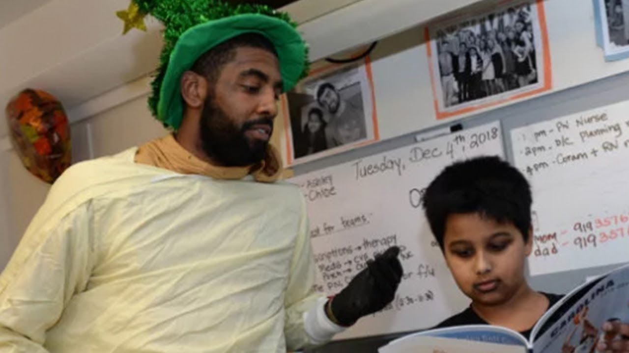 e1f9f1cbea Kyrie Irving ROASTED By Kid During Boston Hospital Visit - YouTube
