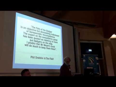 Dr Richard Meyer - Zoologist's talk at the 2015 Badger Trust Conference. filmed by Diane Bartlett.
