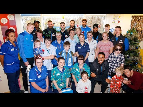 🎅🏻 CHRISTMAS HOSPITAL VISIT   Huddersfield Town visit Royal Calderdale