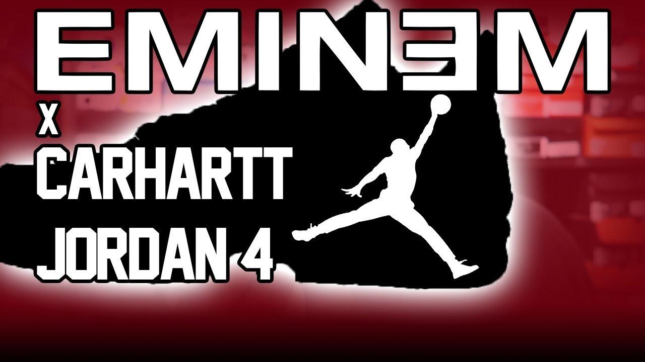 ce5badf8103842 UP CLOSE LOOK AT EMINEM CARHARTT JORDAN 4 S - YouTube