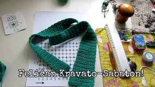 Kroĉeti en #Esperanto: Kroĉetu kravaton!  #KravatoSabato