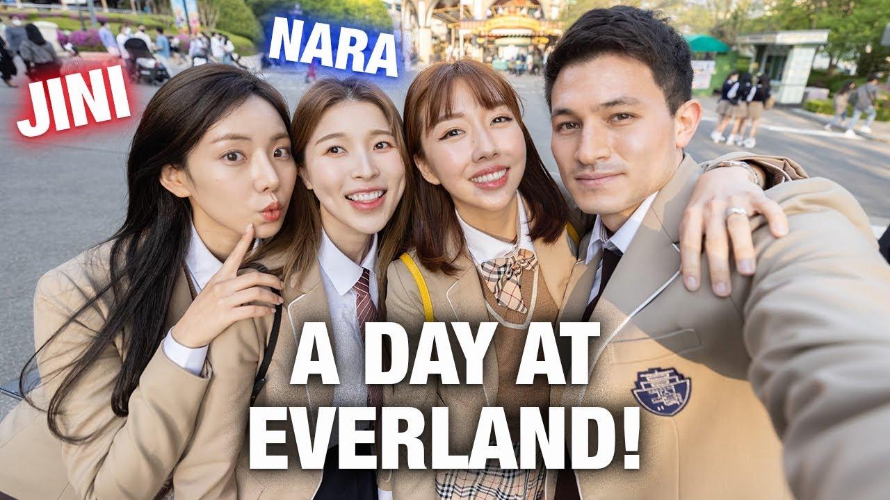 A DAY AT EVERLAND IN KOREA | Ft: Jini and Kang Nara