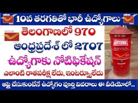 AP Postal Jobs notification 2019 in Telugu || BPM/ABPM/DAK SEVAK jobs notification 2019 in AP&TS
