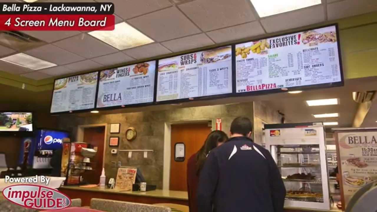 Bella Pizza Lackawanna Ny Digital Menu Boards