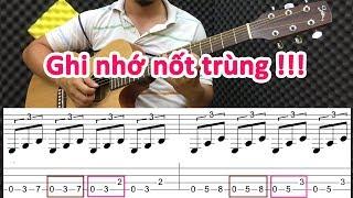 Bài tập giúp GHI NHỚ các nốt trùng nhau - hiệu quả cho người mới tập đàn guitar
