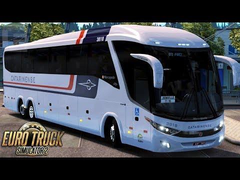 Euro Truck Simulator 2 - Bus   Catarinense  - São Paulo/Joinville - Detail Map + EAA - 1080/60fps