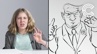 Vanessa Describes Trump to an Illustrator