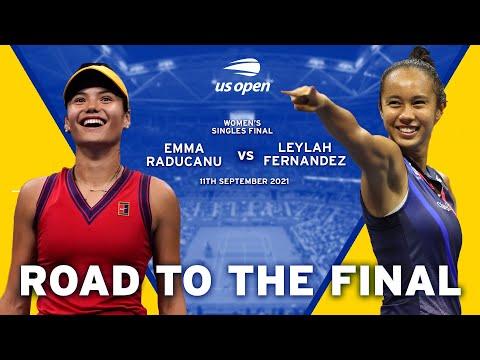 Emma Raducanu vs Leylah Fernandez - Road to the Final   US Open 2021
