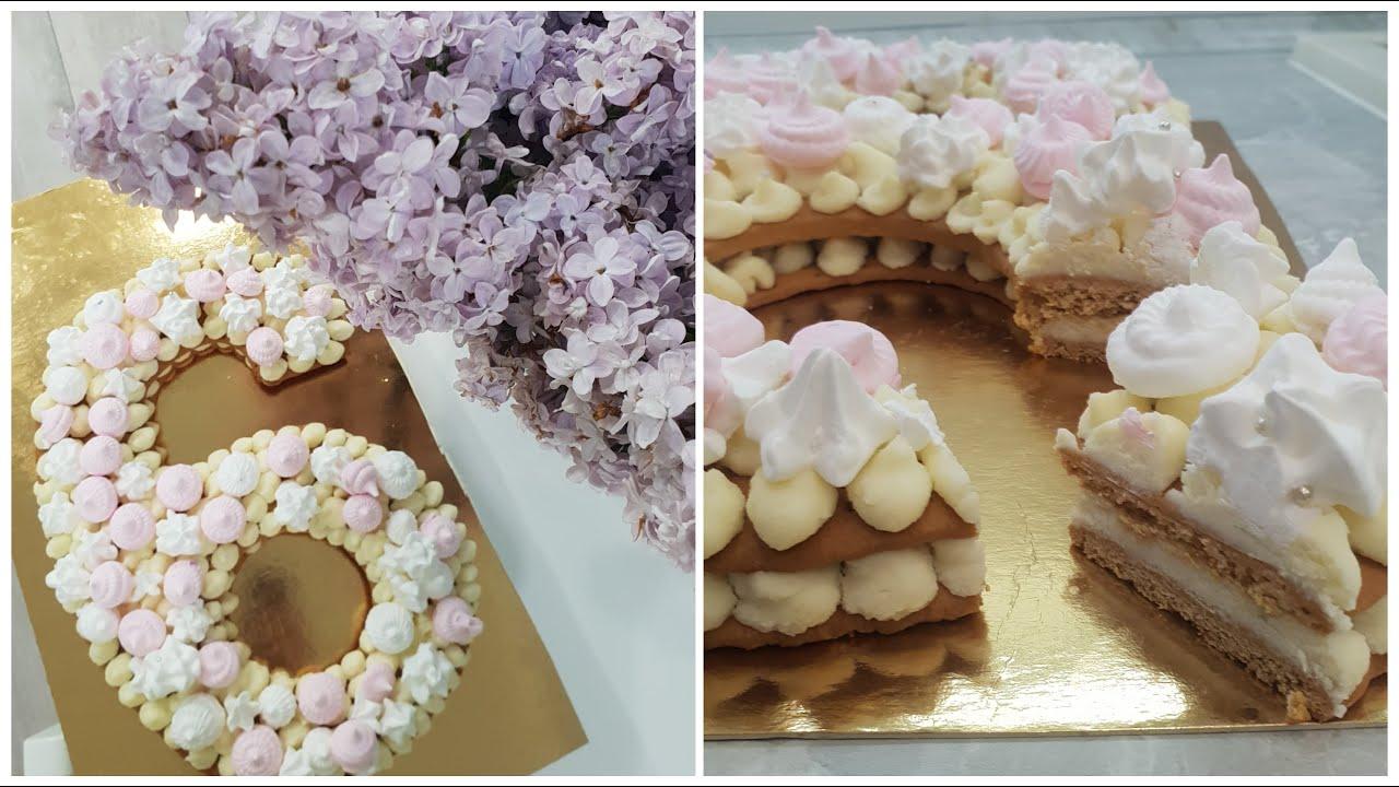 Торт ЦИФРА ☆ Медовий торт