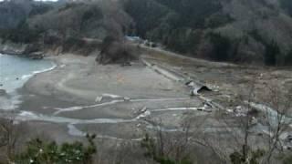 東日本地震 岩手県下閉伊郡田野畑村明戸