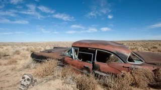 Abandoned Cars Australia 2016. Old Abandoned Classic Cars in Desert.
