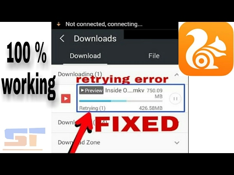 How to Fix UC Browser Retrying Error | While resuming a downloading File.