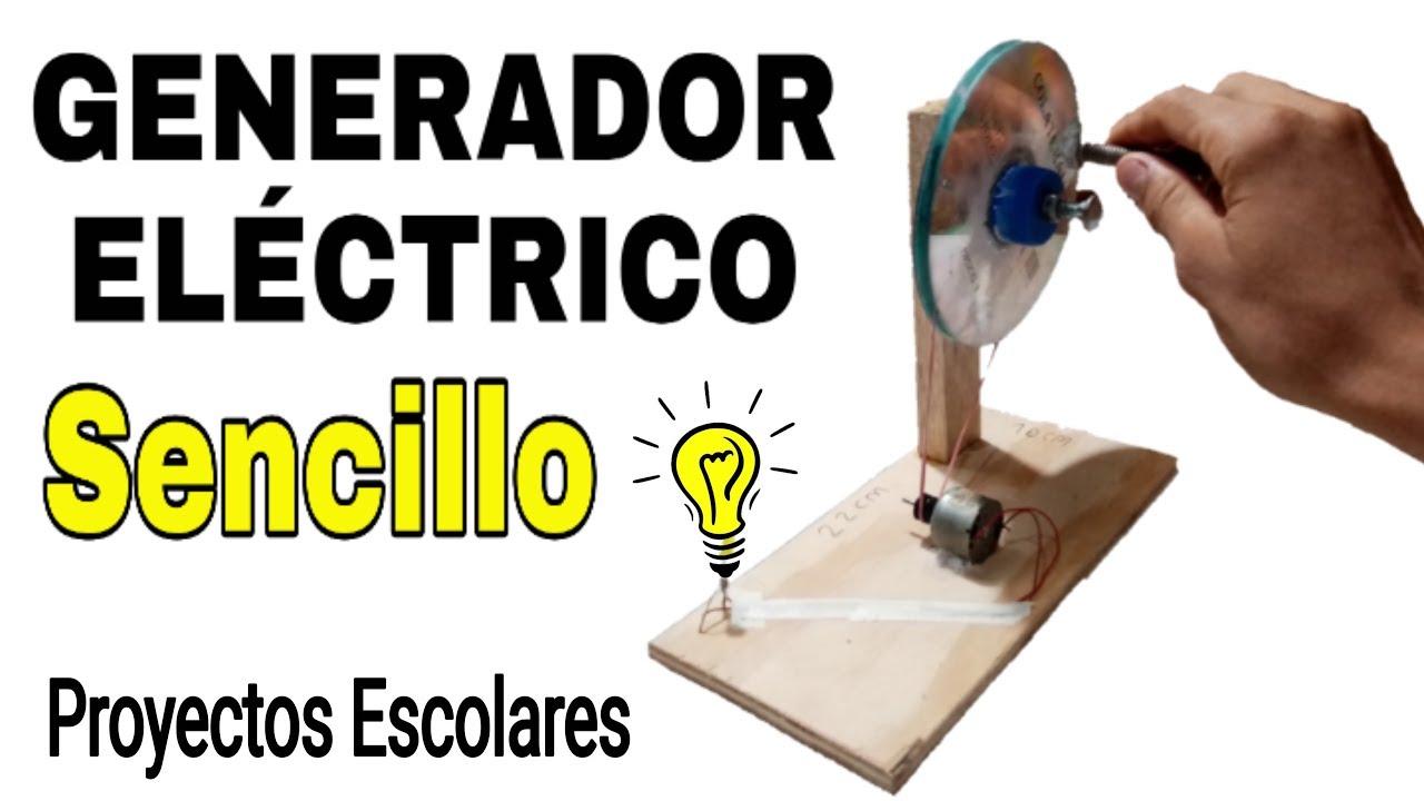 """COMO HACER UN GENERADOR ELÉCTRICO CASERO """"Creaciones caseras"""""""