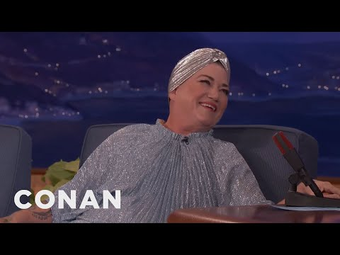 Lea DeLaria Debuts Her New Look  - CONAN on TBS