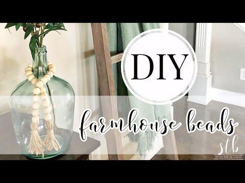 DIY Farmhouse Bead Tutorial 2019 (Easy)