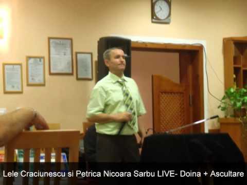 Lele Craciunescu si Petrica Nicoara Sarbu LIVE- Doina+Ascultare