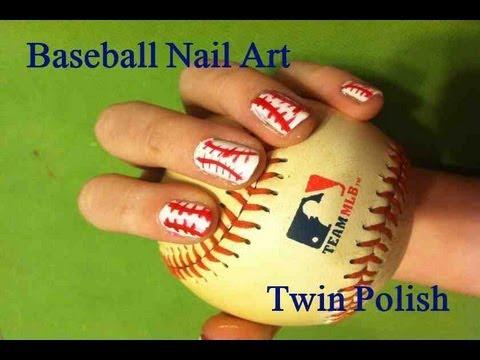 baseball nail art tutorial