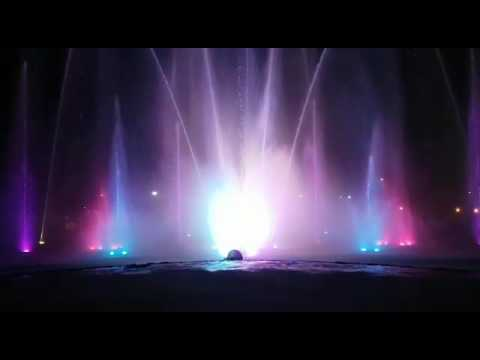 Fountain at Gomti River Front in Lucknow