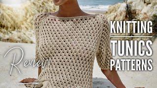 Туника СПИЦАМИ: модели со схемами и описанием / Knitting tunics: patterns / REVIEW - Видео от Nataly's Reviews