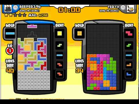Tetris Friends best score so far - Over 100 lines sent and 3 KO's!