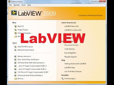 Beginners LabVIEW Tutorial 1: Getting Started with LabVIEW