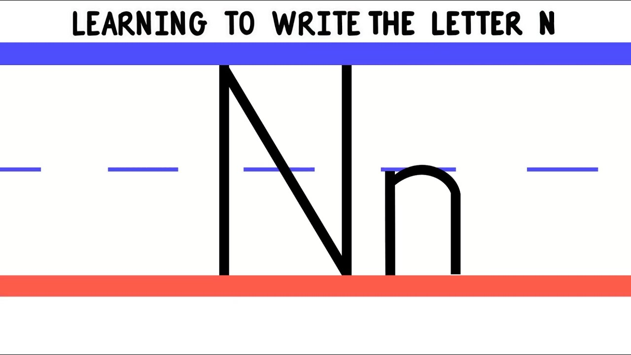 Write The Letter N  Abc Writing For Kids  Alphabet Handwriting By