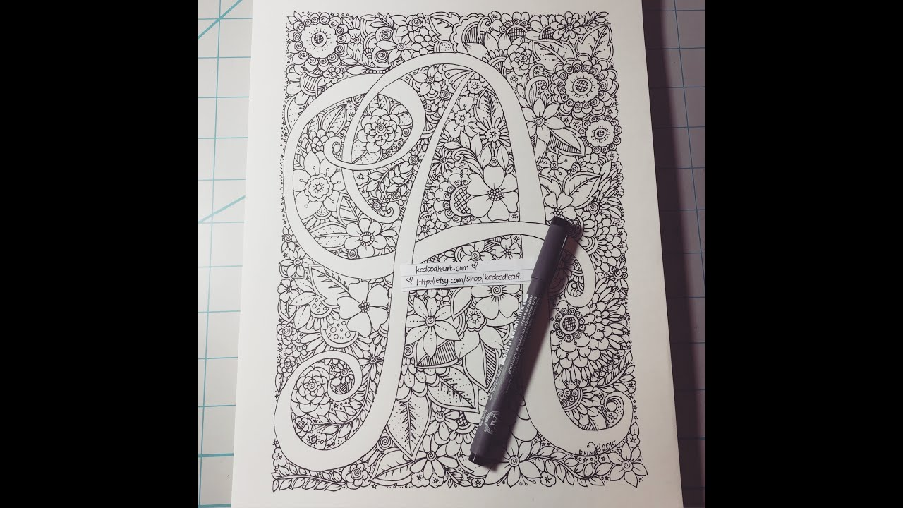 Alphabet Series Letter A Speed Doodling YouTube